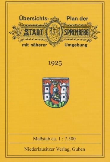 Übersichtsplan der Stadt Spremberg mit näherer Umgebung 1925
