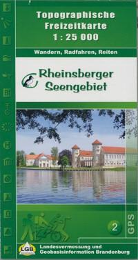 Topografische Freizeitkarte Rheinsberger Seengebiet