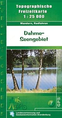 Topografische Freizeitkarte Dahme-Seengebiet