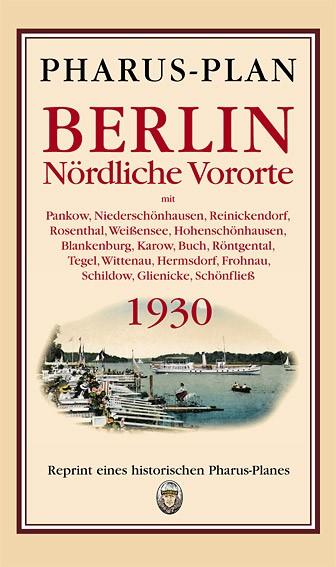 Pharus-Plan Berlin - Nördliche Vororte 1930