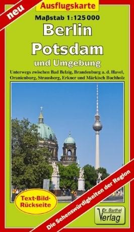 Ausflugskarte Berlin, Potsdam und Umgebung