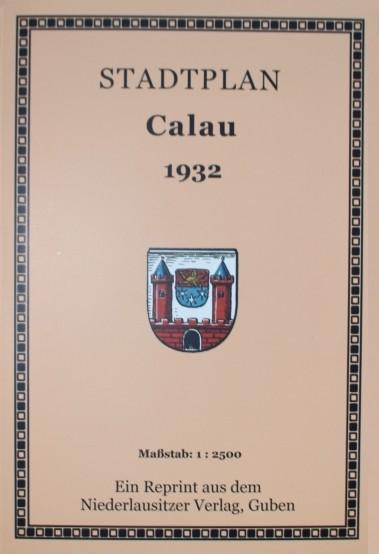 Stadtplan Calau 1932 / 1933. 1: 2.500