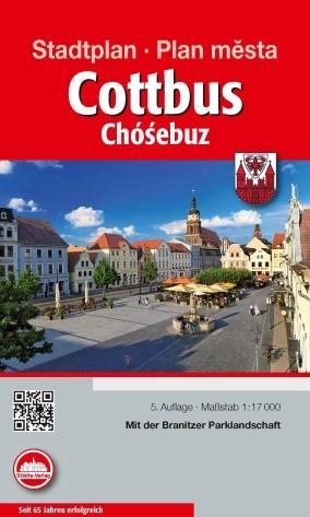Stadtplan - Cottbus / Plan mesta Chosebuz 1:17 000