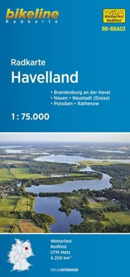 Radkarte Havelland 1:75 000 Rathenow, Brandenburg / H., Potsdam