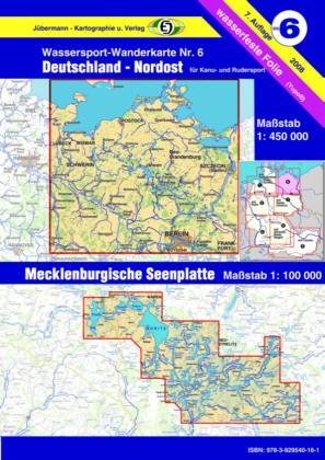 Gewässerkarte Deutschland Nordost / Mecklenburgische Seenplatte