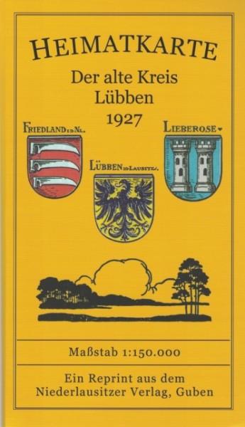 Der alte Kreis Lübben 1927 - Heimatkarte