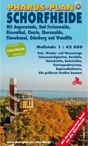 Pharus-Freizeitkarte-Schorfheide