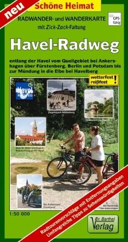 Radwander- und Wanderkarte Havel-Radweg 1:50 000