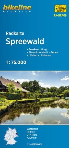 Radkarte Spreewald 1:75 000 Lübben, Guben, Eisenhüttenstadt