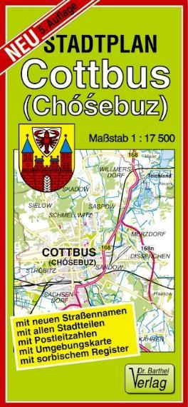 Stadtplan Cottbus (Chósebuz) 1:75 000