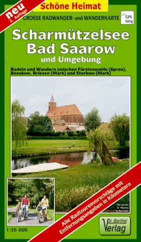 Rad- und Wanderkarte Scharmützelsee - Bad Saarow 1:35 000