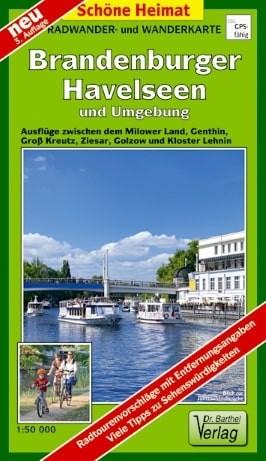 Radwander- und Wanderkarte Brandenburger Havelseen