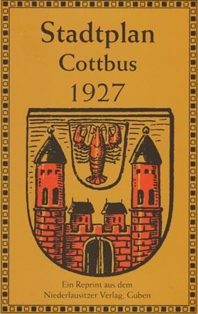 Stadtplan Cottbus 1927