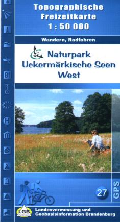 Top. Freizeitkarte Naturpark Uckermärkische Seen West