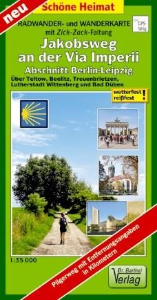 Radwander- und Wanderkarte Jakobsweg an der Via Imperii