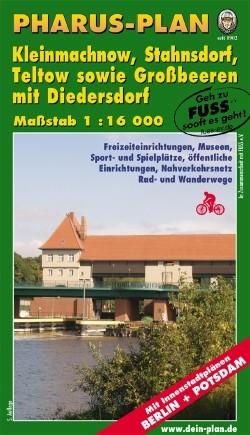 Stadtplan Kleinmachnow, Stahnsdorf, Teltow 1:16 000