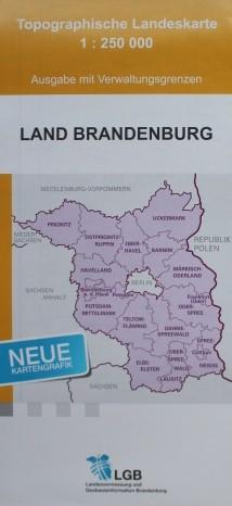 Topografische Landeskarte 1:250 000 Verwaltungsausgabe