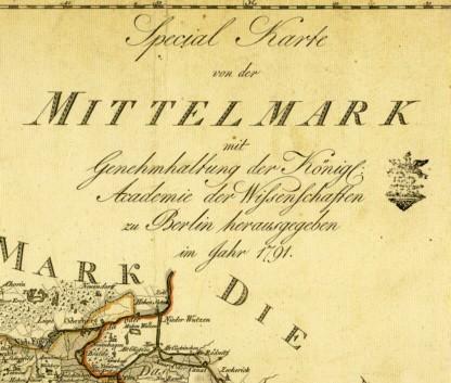 Special Karte von der Mittelmark (1790)