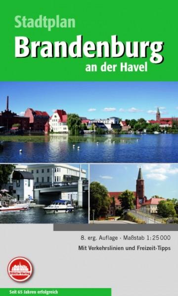 Abbildung des Falt-Stadtplans von Brandenburg / Havel