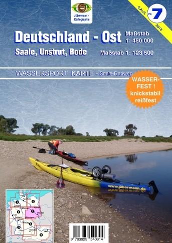 Gewässerkarte Deutschland Ost / Saale, Unstrut, Bode