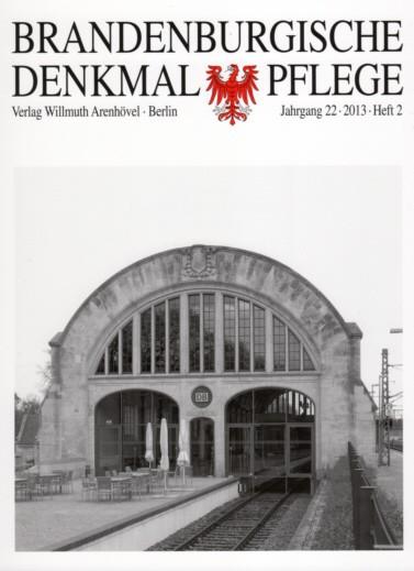 Brandenburgische Denkmalpflege 2013 - Heft 2