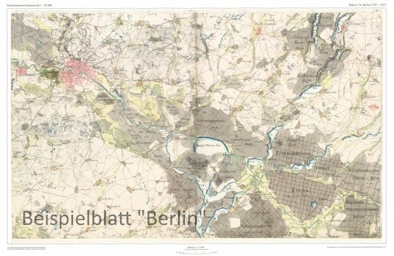 Schmettausches Kartenblatt 38 - Templin / Tempelin 1767-1787