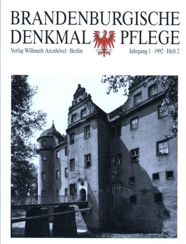 Brandenburgische Denkmalpflege 1992 - Heft 2