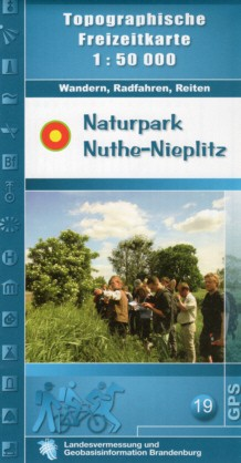 Topografische Freizeitkarte Naturpark Nuthe-Nieplitz