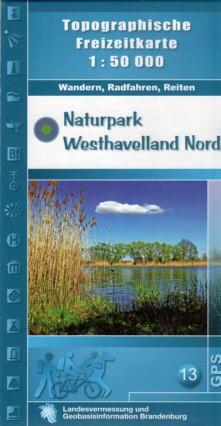 Topografische Freizeitkarte Naturpark Westhavelland-Nord