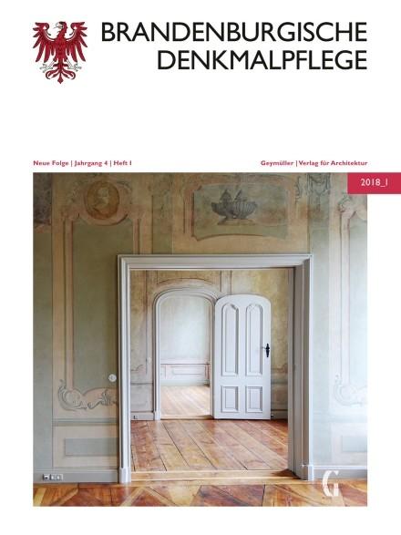 Brandenburgische Denkmalpflege 2018 - Heft 1