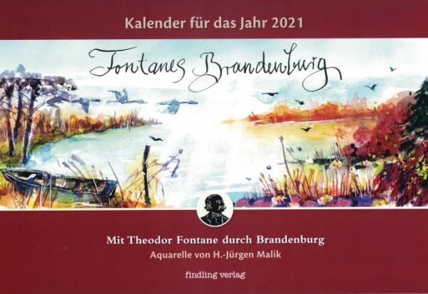 "Deckblatt des Kalenders ""Fontanes Brandenburg 2021"""
