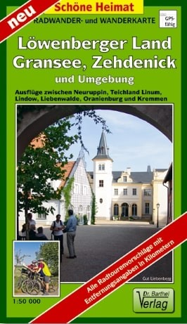 Vorderansicht Rad- und Wanderkarte Löwenberger Land
