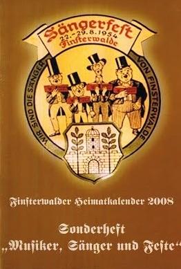Finsterwalder Heimatkalender - Sonderheft 2008