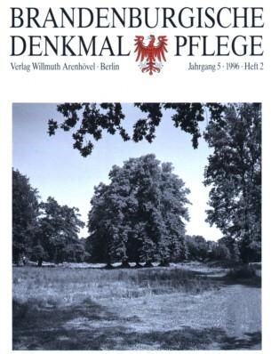Brandenburgische Denkmalpflege 1996 - Heft 2