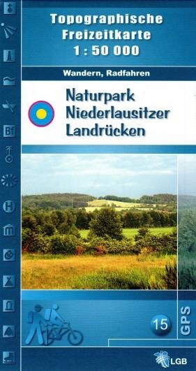 Topografische Freizeitkarte Naturpark Niederlausitzer Landrücken