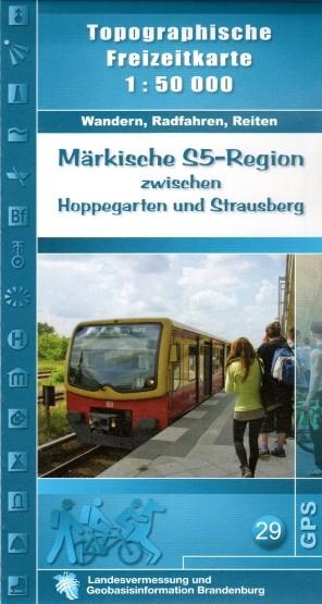 Topographische Freizeitkarte Märkische S 5-Region