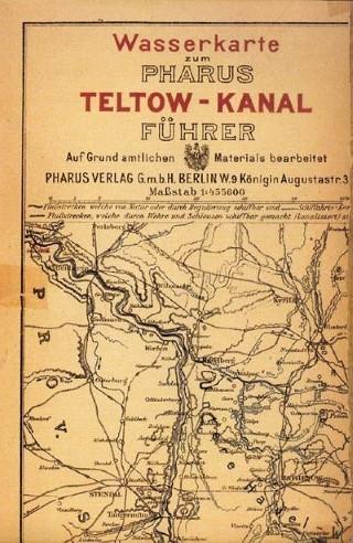 Wasserkarte zum Pharus Teltow-Kanal-Führer 1906