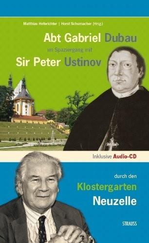 Abt Gabriel Dubau im Spaziergang mit Sir Peter Ustinov