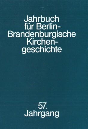 Jahrbuch für Berlin-Brandenburgische Kirchengeschichte