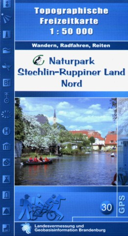 Top. Freizeitkarte Naturpark Stechlin-Ruppiner Land Nord