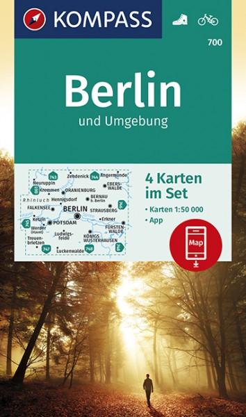 Wander- und Radkarte Berlin und Umgebung - 4-Karten-Set