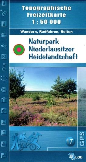 Topogr. Freizeitkarte Naturpark Niederlausitzer Heidelandschaft