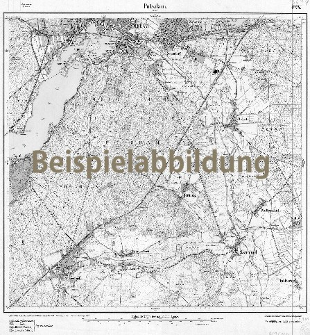 Historisches Messtischblatt Bamme und Umgebung 1922