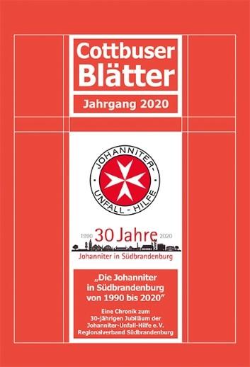 """Buchcover der Chronik """"Die Johanniter in Südbrandenburg 1990 - 2020"""""""
