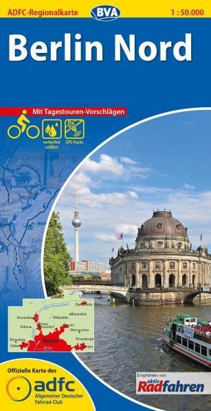 Berlin Nord - ADFC-Regionalkarte 1:50 000