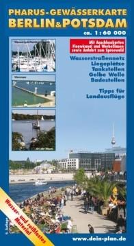 Pharus-Gewässerkarte Berlin und Potsdam 1:60 000