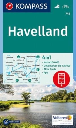 Wander- und Radkarte Havelland