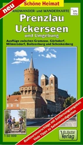 Radwander- und Wanderkarte Prenzlau, Uckerseen und Umgebung
