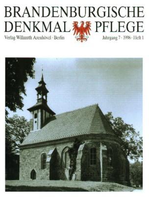 Brandenburgische Denkmalpflege 1998 - Heft 1