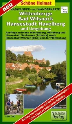 Rad- und Wanderkarte Wittenberge, Bad Wilsnack, Havelberg